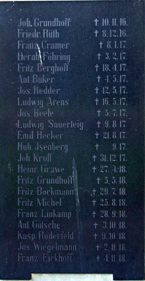 Names 1916-1918
