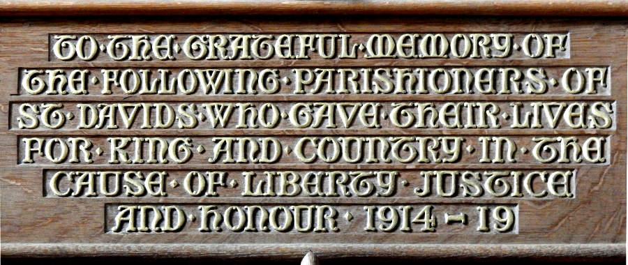 inscription 1914-1919