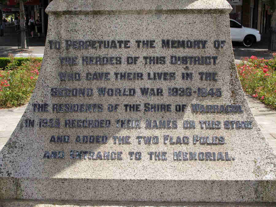 Inscription WW II