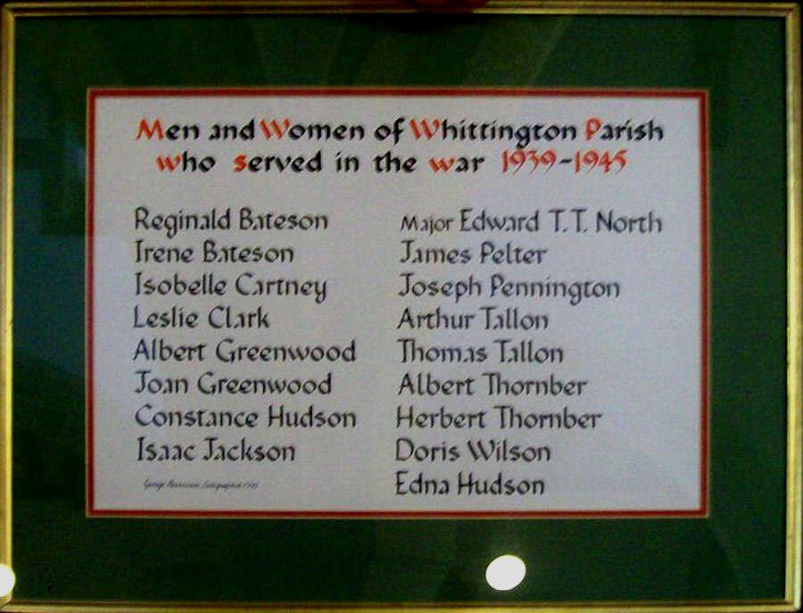 Roll of Honour WW II