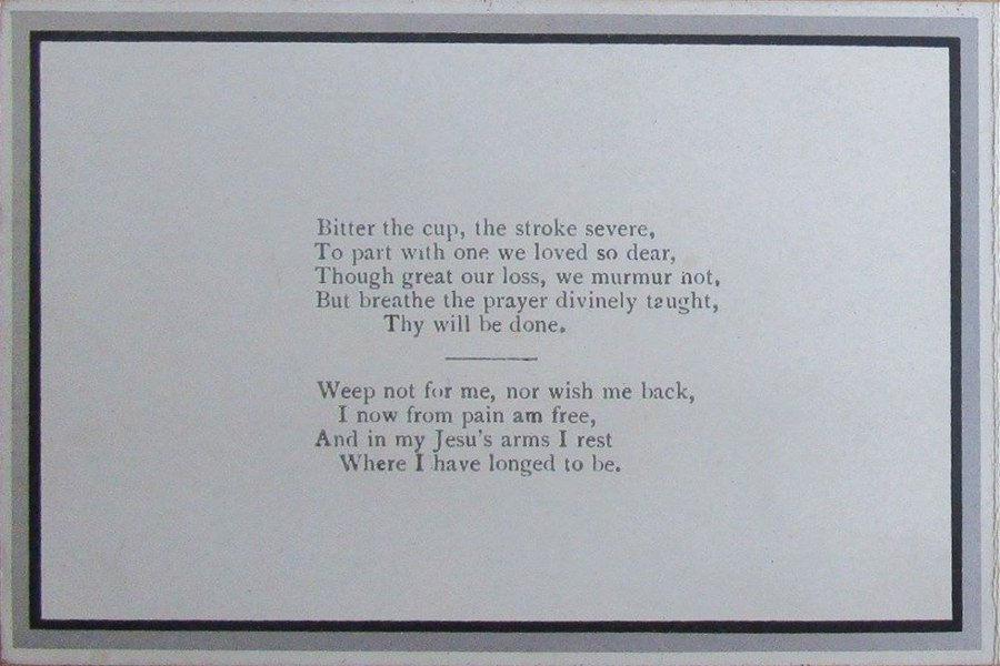 Memorial Card - Frederick J. Allen