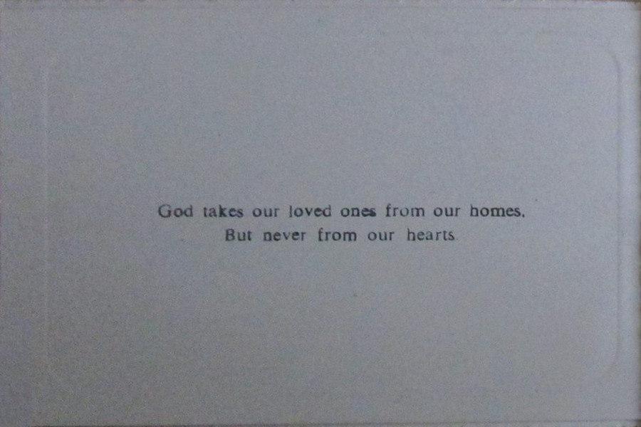Memorial Card - Minnie Kate Ambrose