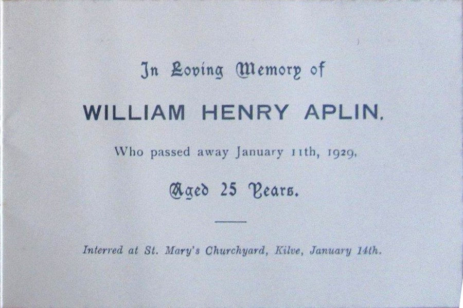 Memorial Card - William Henry Aplin