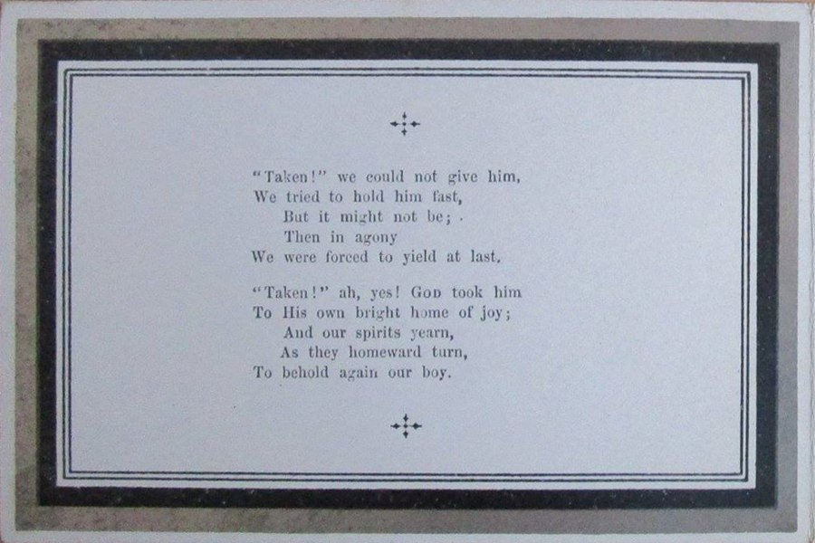 Memorial Card - George Basil Appleby