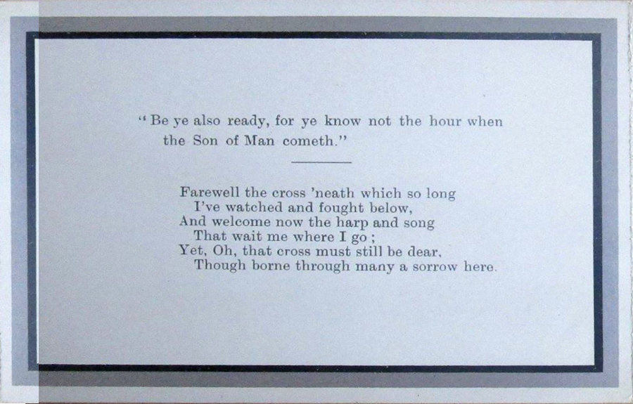 Memorial Card - Ann Armstrong