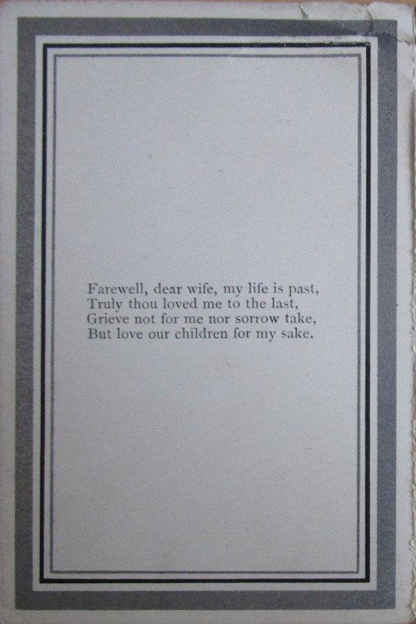 Memorial Card - John Armstrong