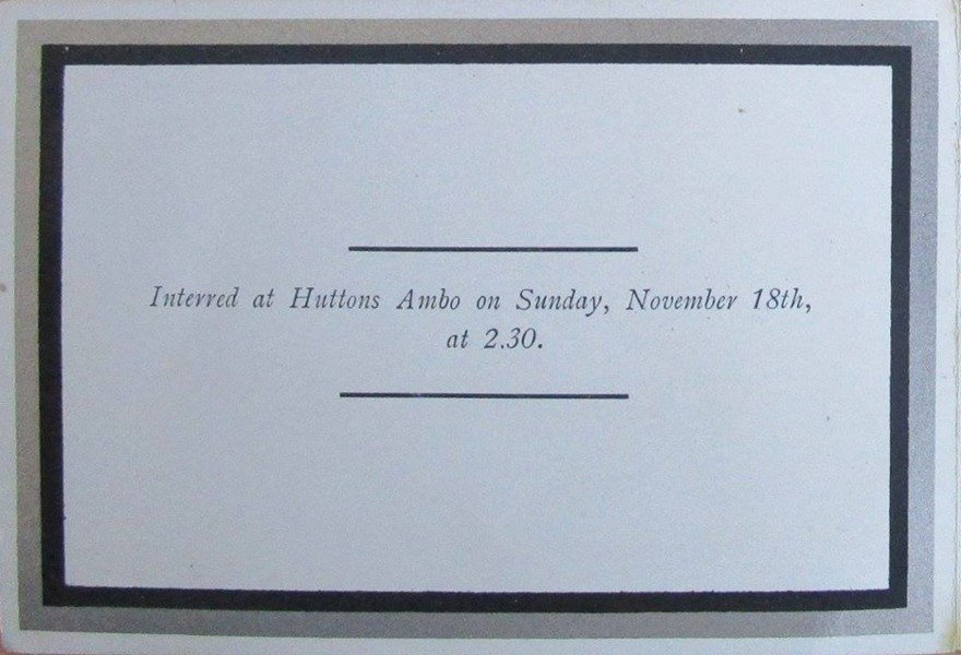 Memorial Card - Mary Hannah Atkinson