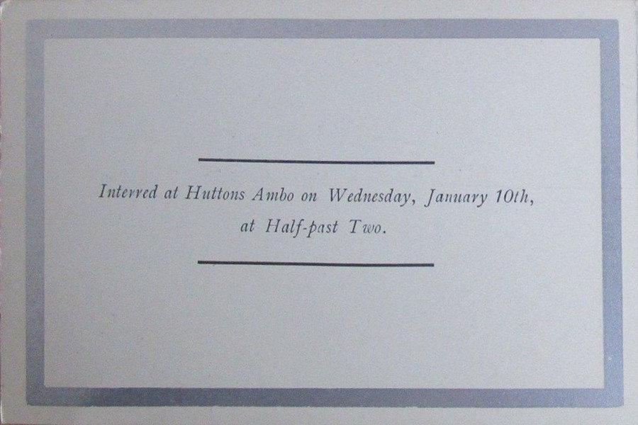 Memorial Card - Mary Jane Atkinson