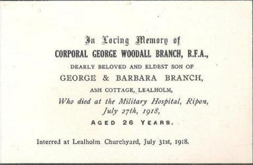 Memory Card - George W. Branch