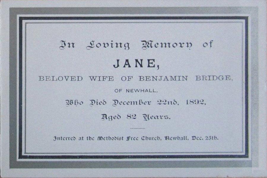 Memory Card - Jane Bridge