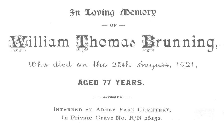 Memory Card - William Thomas Brunning