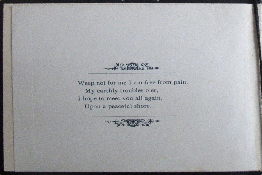 Memorial Card - Frank Cavill