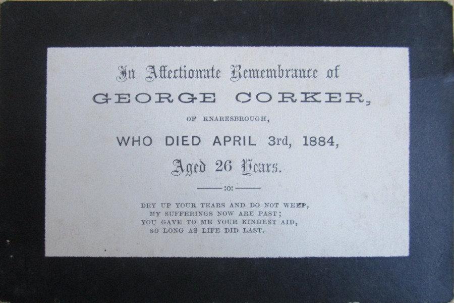 Memorial Card - George Corker