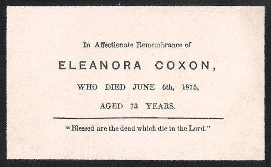 Memory Card - Eleanora Coxon
