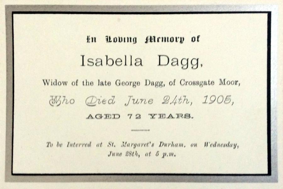 Memorial Card - Annie Ruth Dawson