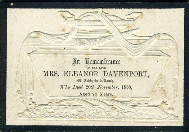 Memorial Card - Eleanor Davenport