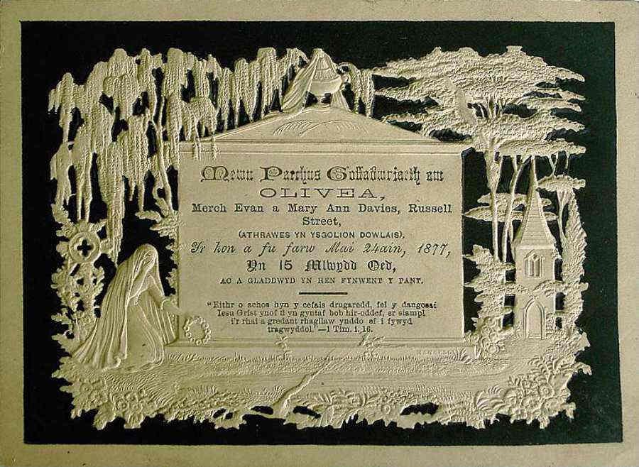 Memorial Card - Olivea Davies