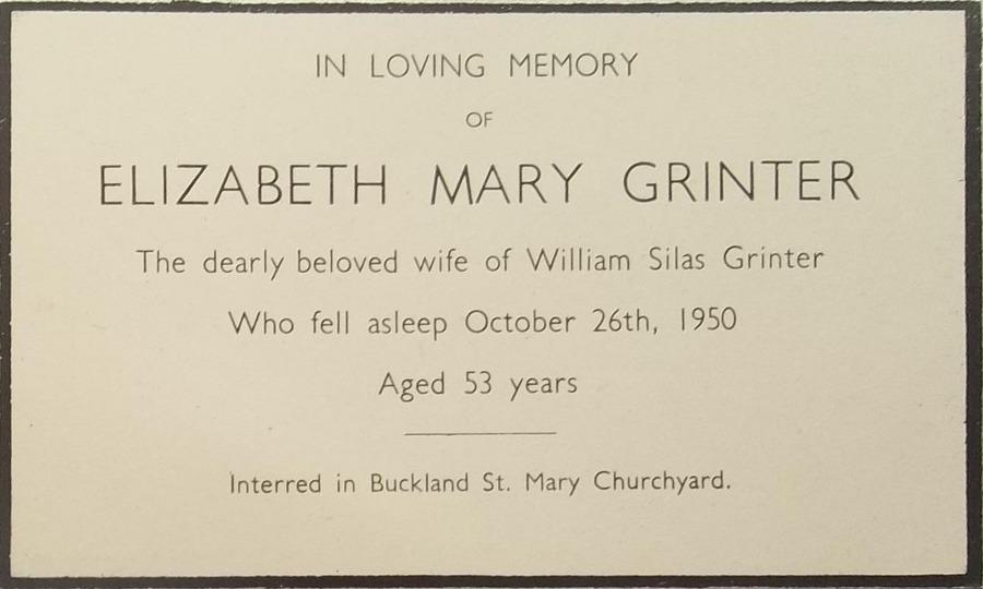 Memory Card - Elizabeth Mary Grinter