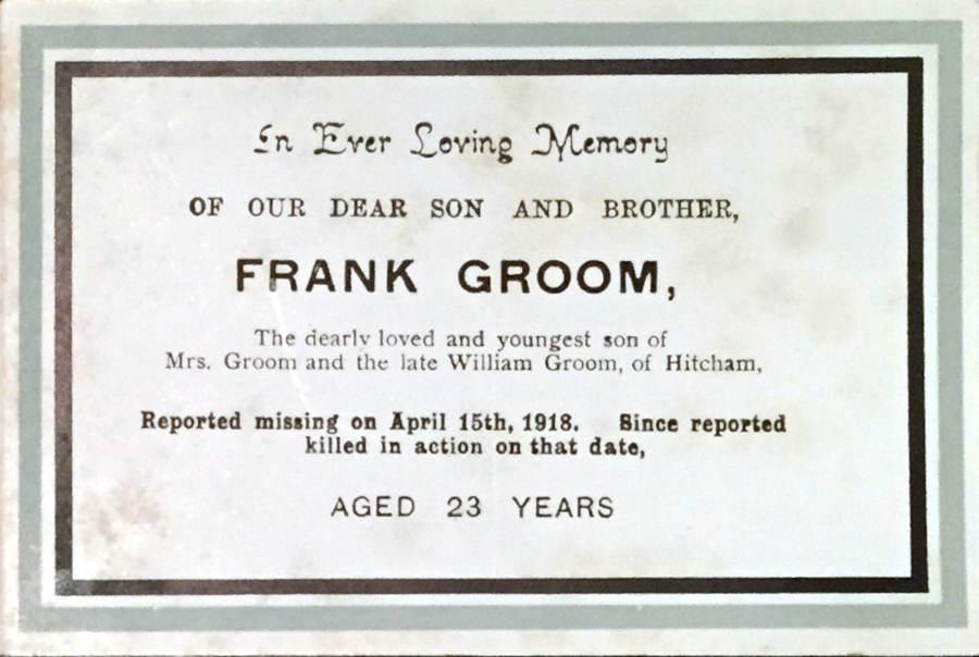 Memory Card - Frank Groom