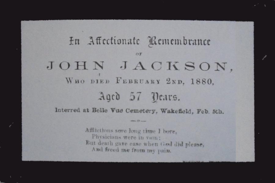 Memorial Card - John Jackson