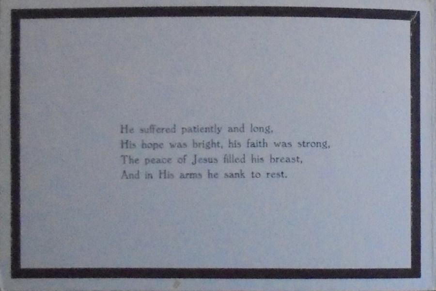 Memorial Card - Richard Jeffery