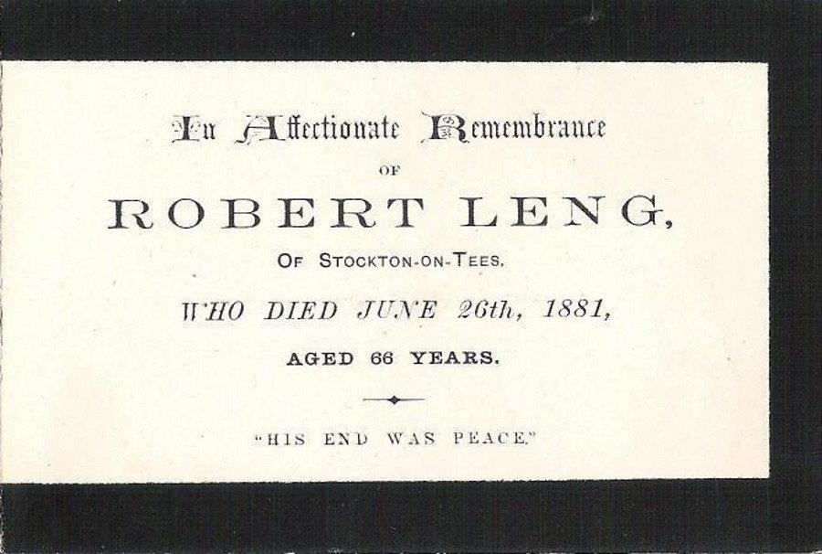 Memory Card - Robert Leng