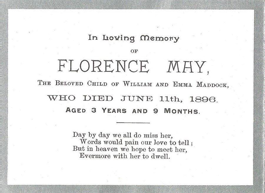 Memory Card - Florence May Maddock