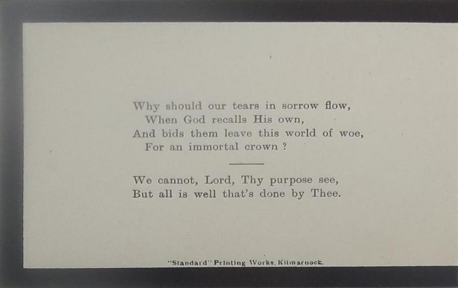 Memorial Card - James Murdoch
