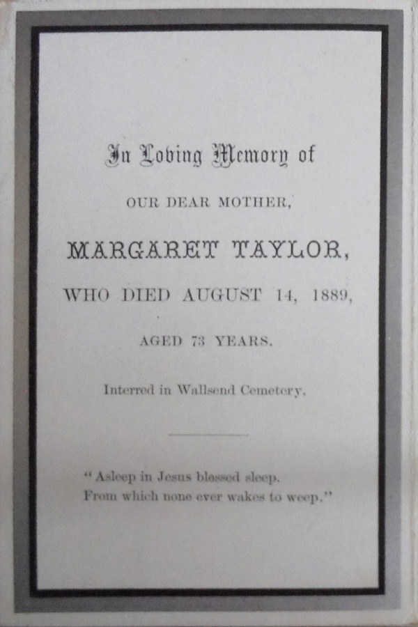 Memory Card - Margaret and Henry Taylor