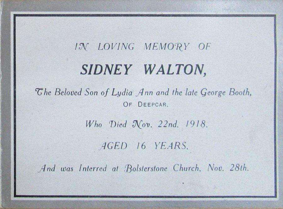Memory Card - Sidney Walton