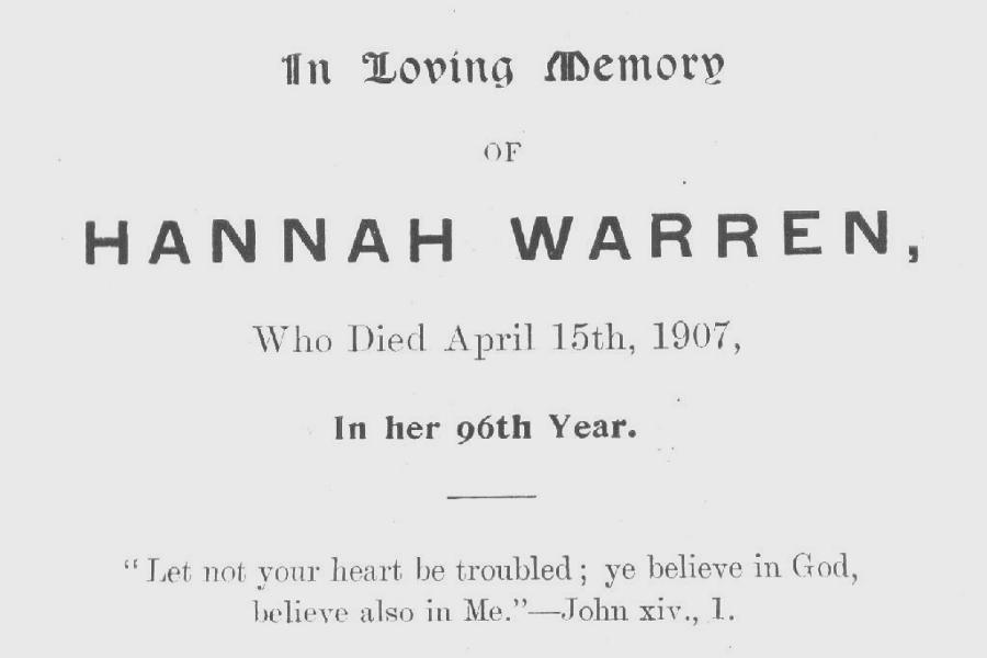 Memory Card - Hannah Warren