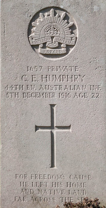 Private Cecil Edward Humphry