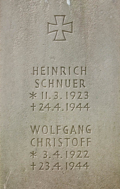Unteroffizier Heinrich Schuer and Leutnant Wolfgang Christoff