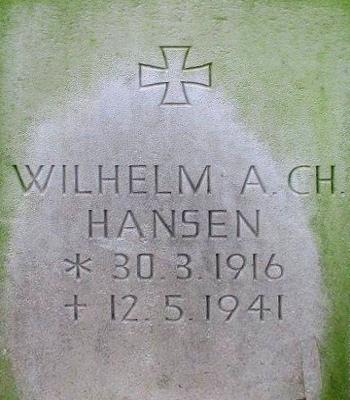 Unteroffizier Wilhelm A. Ch. Hansen