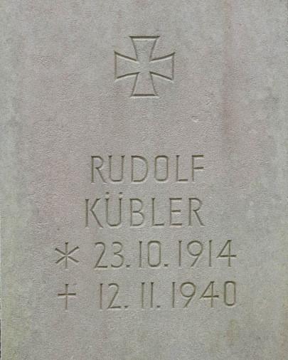 Unteroffizier Rudolf Kübler